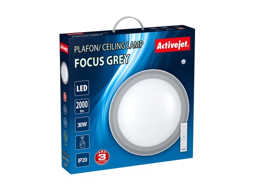 Plafon LED Activejet AJE-FOCUS Grey + pilot - AJE-FOCUS GREY