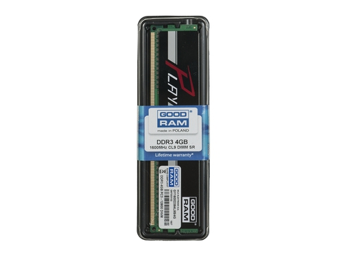 Pamięć RAM Goodram DDR3 PLAY 4GB PC1600 CL9 512x8 czarny - GY1600D364L9S/4G
