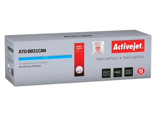 Activejet toner do OKI 45862816 reg ATO-B831CAN Refurbished / Odnowiony