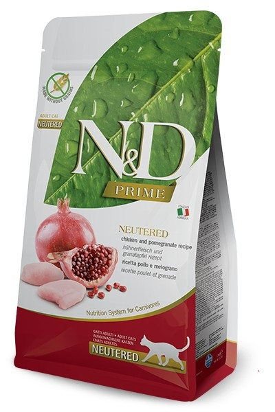 #FARMINA N&D PRIME CAT NEUTERED CHICKEN & POMEGRANAT