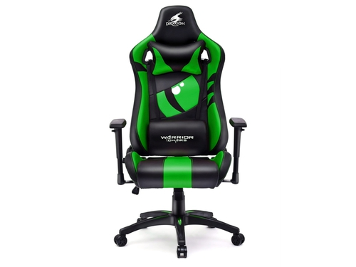 Fotel gamingowy WARRIOR CHAIRS Dragon 5903293761052 kolor zielony czarny