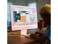 Apple 24-inch iMac with Retina 4.5K display: Apple M1chip with 8-core CPU and 8-core GPU, 512GB - Pink - MGPN3ZE/A