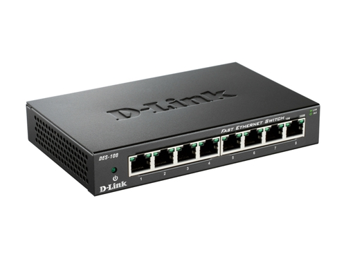 D-LINK DES-108 8x100Mbps Desktop Switch Metal - DES-108/E
