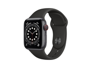 Apple Watch Series 6 GPS + Cellular, 40mm Space Gray Aluminium Case with Black Sport Band - Regular - M06P3WB/A