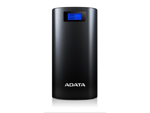 ADATA P20000D Power Bank, 20000mAh, LED flashlight, black - AP20000D-DGT-5V-CBK