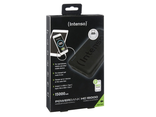 Power Bank INTENSO HC15000 7332540 15000mAh USB-C USB 2.0