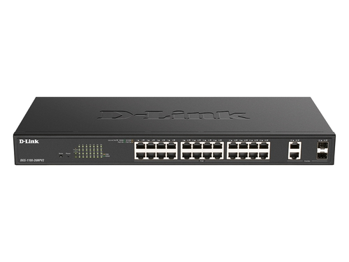 D-Link 26-Port PoE+ Gigabit Smart Managed Switch - DGS-1100-26MPV2