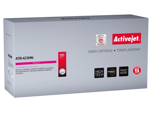 Toner Activejet ATB-423MN do drukarki Brother, Zamiennik Brother TN-423M; Supreme; 4000 stron; purpurowy.