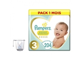 Pampers Pieluchy Premium Monthly Box S3 204 + KapuCup miarka temperatury wody
