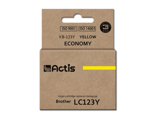 ACS tusz Brother LC123 Yellow KB-123Y
