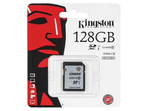Karta pamięci Kingston SDHC SD10VG2 128GB - SD10VG2/128GB