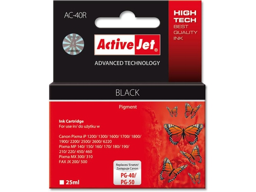 Activejet tusz Canon PG-40 Bk ref. AC-40 - AC-40R (AC-40)