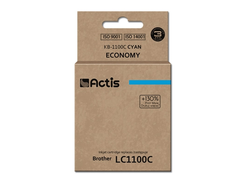 Actis tusz Brother LC1100/LC980 Cyan KB-1100C
