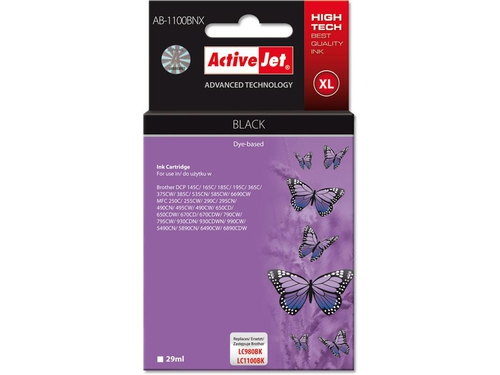 Activejet tusz Brother LC1100/LC980 Black AB-1100BK