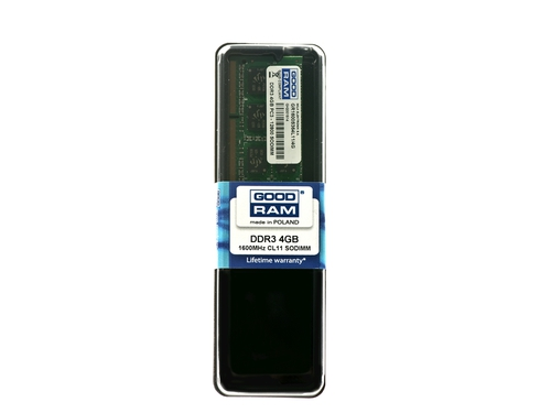 Pamięć Goodram SO-DIMM DDR3 4096MB PC1600 CL11 - GR1600S364L11/4G
