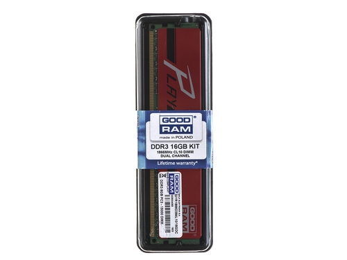 Pamięć RAM Goodram DDR3 PLAY 16GB PC1866 2x8GB RED CL10 - GYR1866D364L10/16GDC