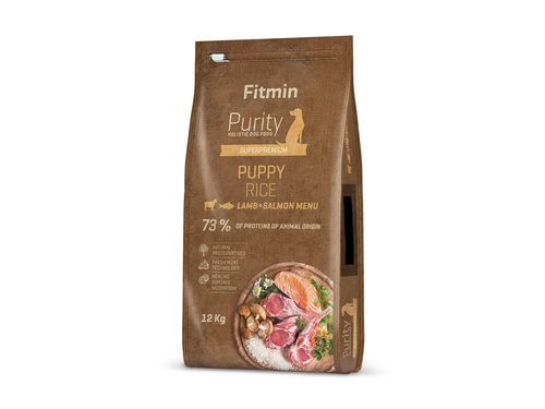 FITMIN Purity dog Rice Puppy Lamb & Salmon 12 kg