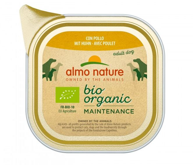 #ALMO NATURE Daily Menu BIO Dog Kurczak - szalka 100g