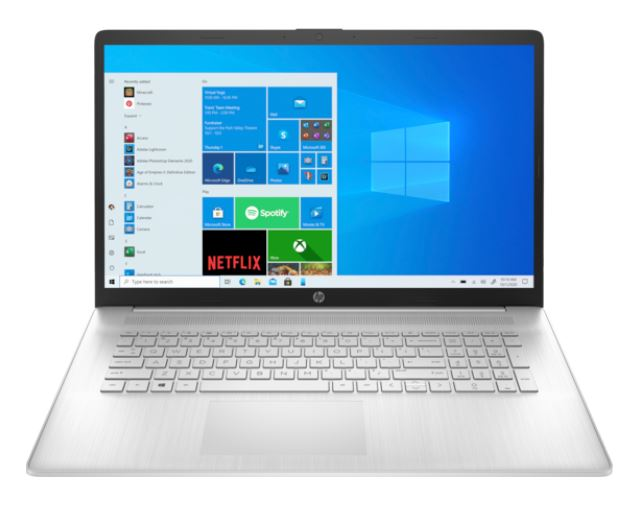 """HP 17-cn0019nw N4020 17,3""""FHD AG 250nit IPS 8GB DDR4 SSD256 UHD600 BT CamHD USB-C 41Wh Win10 2Y Natural Silver1"""