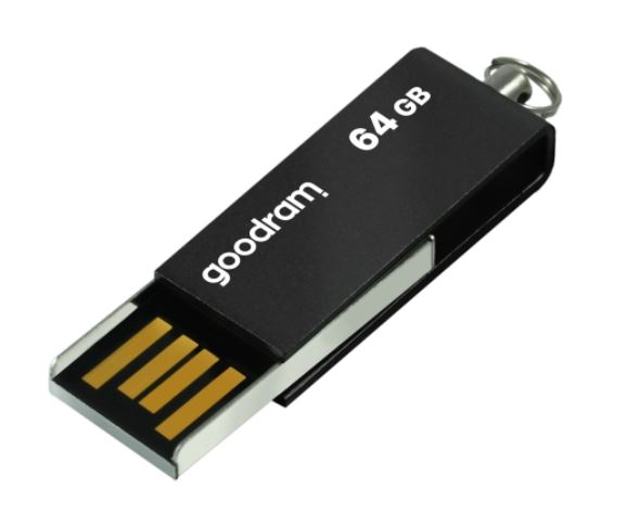 #GOODRAM FLASHDRIVE 64GB USB 2.0 UCU BLACK
