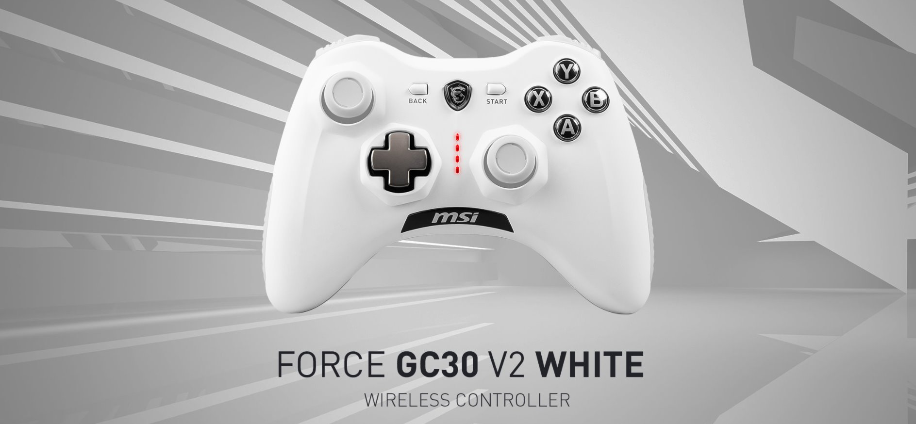 PAD MSI FORCE GC30 V2 WHITE GAMING CONTROLLER1