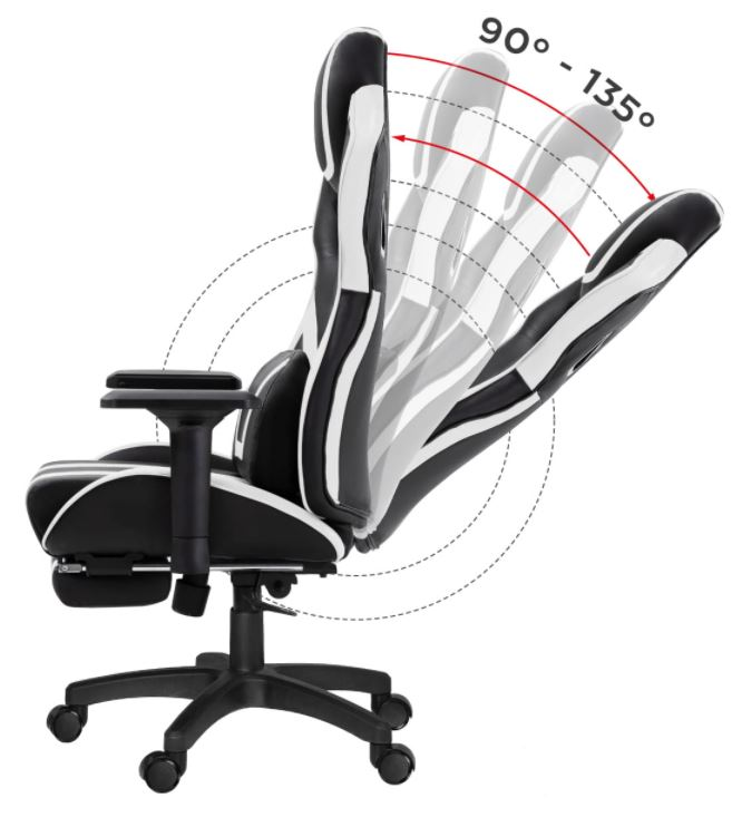 Fotel gamingowy HZ-Force 7.5 White8
