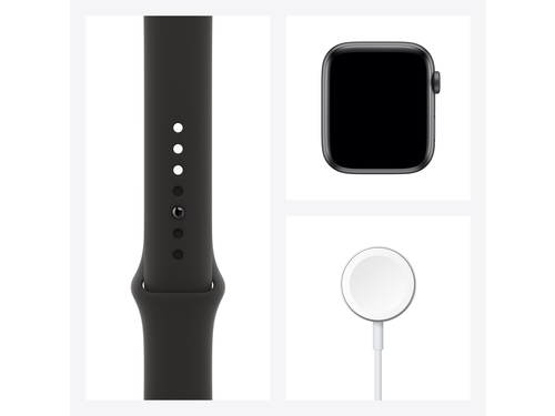 Apple Watch Series 6 GPS + Cellular, 44mm Space Gray Aluminium Case with Black Sport Band - Regular - MG2E3WB/A