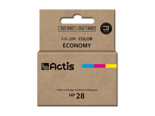 Tusz Actis KH-28R do drukarki HP, Zamiennik HP 28 C8728A; Standard; 21 ml; kolor.