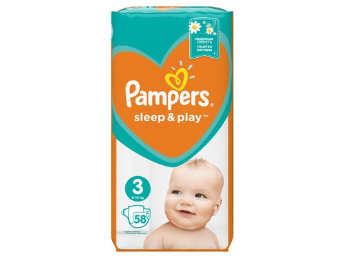 Pampers pieluchy Sleep&Play VP Midi 3 58szt