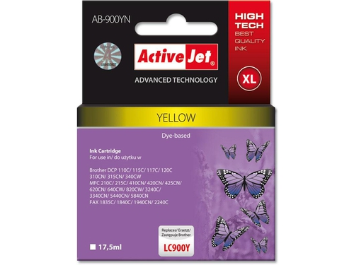 Activejet tusz Brother LC900 Yellow AB-900Y