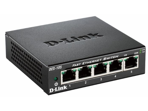 D-LINK DES-105 5x100Mbps Desktop Switch Metal - DES-105/E