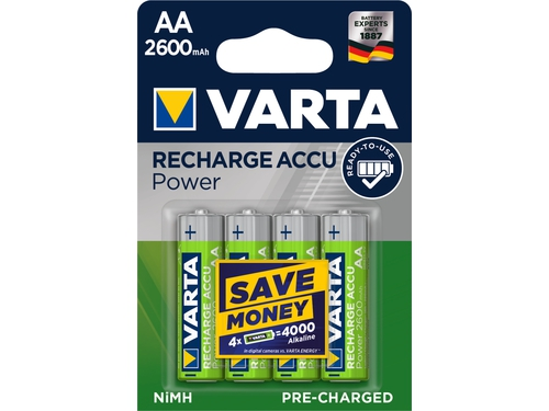 VARTA AKUMULATOR HR6/AA 2600MAH READY2USE 4 SZT. - 5716101404