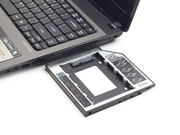 Gembird adapter/ramka HDD 5,25->2,5 slim 12mm(HDD/SSD zamiast CD/DVD w laptopie) - MF-95-02