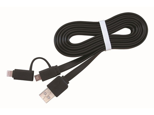 Kabel Gembird ( USB - Lightning Apple 8 pin + micro USB M-M 1,0m czarny ) - CC-USB2-AMLM2-1M
