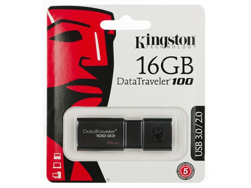 Pendrive Kingston 16GB USB 3.0 DT100G3/16GB