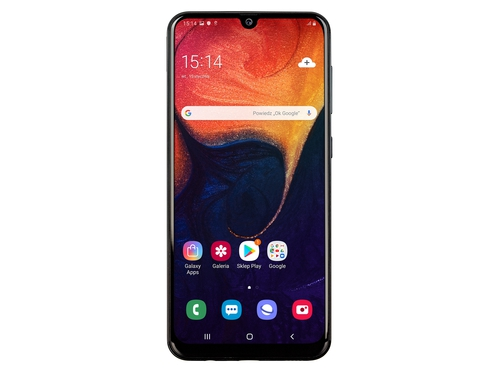 Smartfon Samsung Galaxy A50 128GB Black SM-A505FZKSXEO Bluetooth WiFi GPS LTE 128GB Android 9.0 kolor czarny