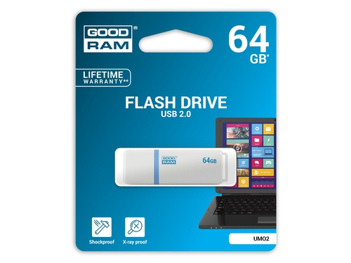Pendrive GoodRam 64GB USB 2.0 UMO2-0640W0R11