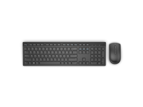 Dell Wireless Keyboard and Mouse - KM636 - US Intl Black - 580-ADFT
