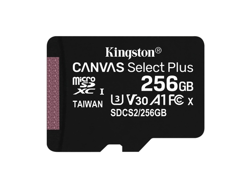 KINGSTON microSDXC Canvas Select Plus 100R + ADP - SDCS2/256GB