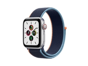 Apple Watch SE GPS + Cellular, 40mm Silver Aluminium Case with Deep Navy Sport Loop - MYEG2WB/A