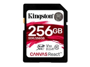KINGSTON SDXC CANVAS REACT UHS-I SDR/256GB V30 A1