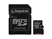KINGSTON MICRO CANVAS SELECT UHS-I SDCS/256GB+ADAPT