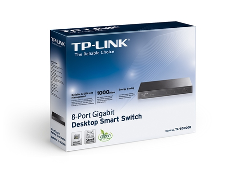 Switch TP-Link TL-SG2008 8x 10/100/1000Mbps