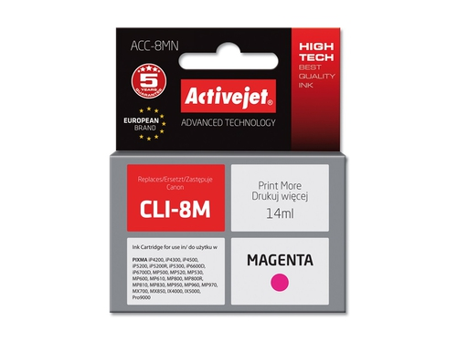 Activejet tusz Canon CLI-8 Magenta WITH CHIP ACC-8M