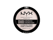 NYX DUO CHROMATIC ILLUMINATING POWDER - SNOW ROSE