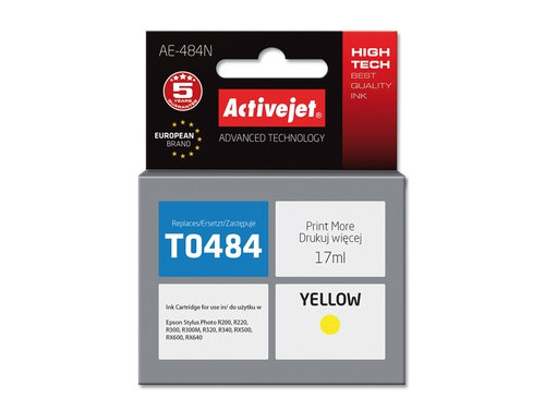 Activejet tusz Eps T0484 R200/R300 Yellow - AE-484N (AE-484)