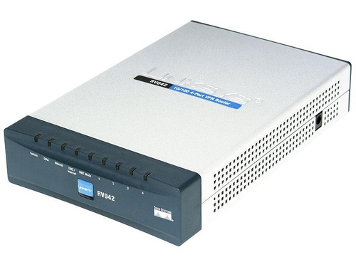 Router CISCO RV042-EU xDSL, 2xWAN, 4xLAN, VPN Firewall, (DSL, Kablówka)