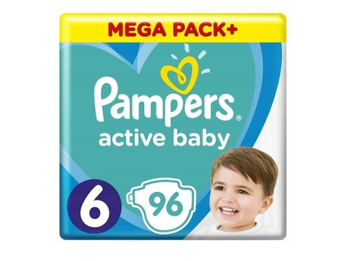 Pampers pieluchy ABD Mega Pack+ Extra Large 96szt