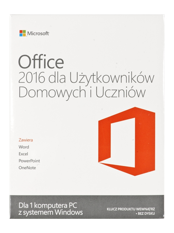 oprogramowanie biurowe microsoft office home and student 2016 win pl eurozone medialess 79g. Black Bedroom Furniture Sets. Home Design Ideas