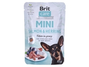 BRIT CARE Mini Pouch SALMON&HERRING STERILISED 85g